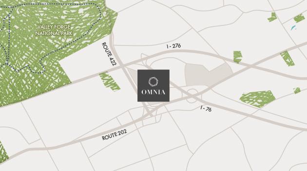 Omnia location map