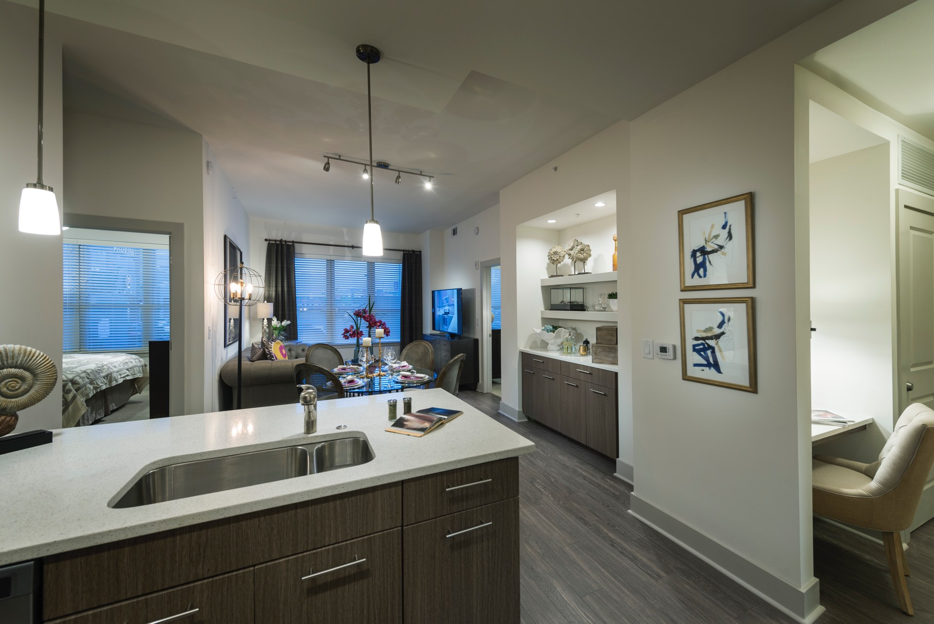 Gourmet chef's kitchen with stainless steel appliances