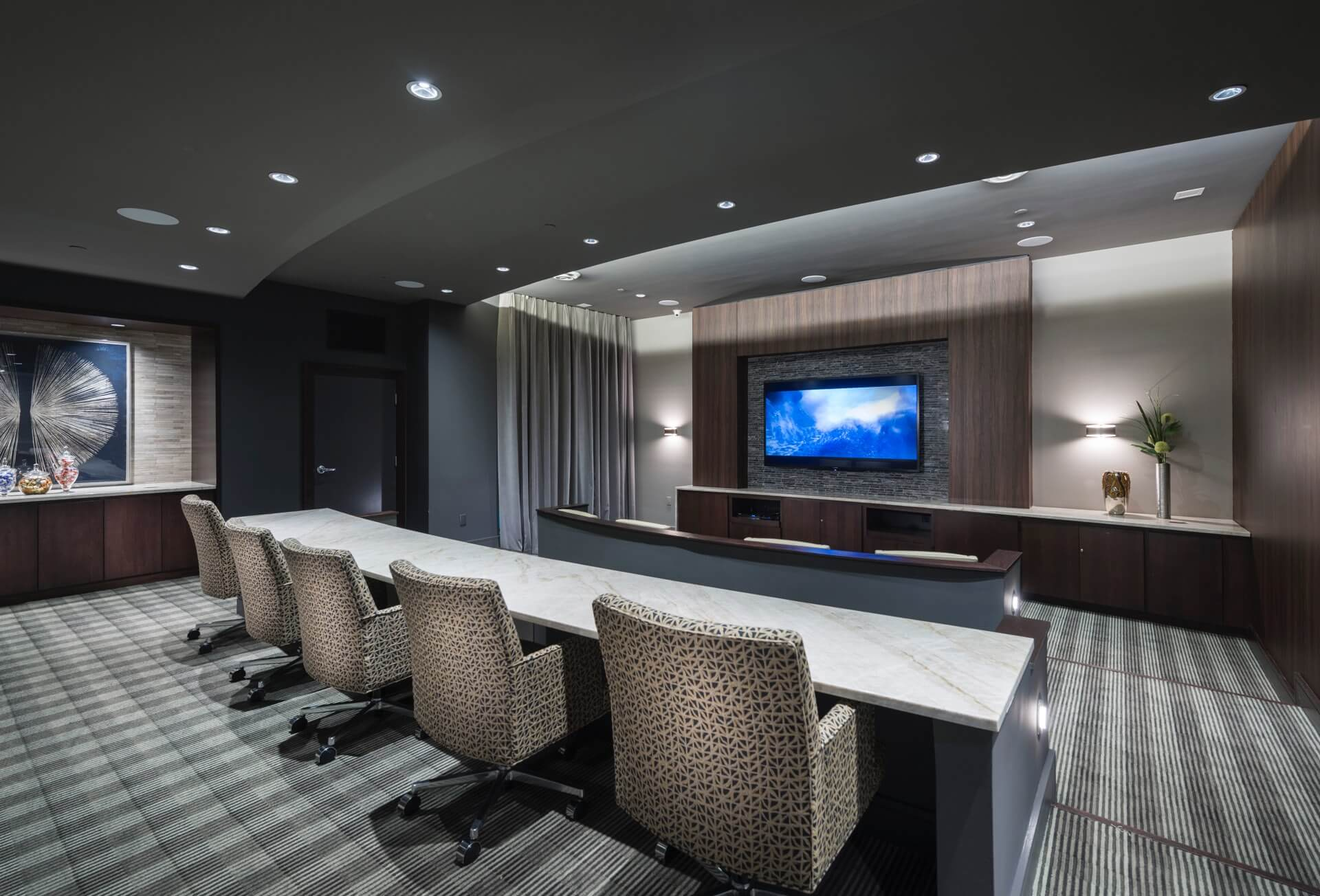 Catch a game or watch a movie in our private media room