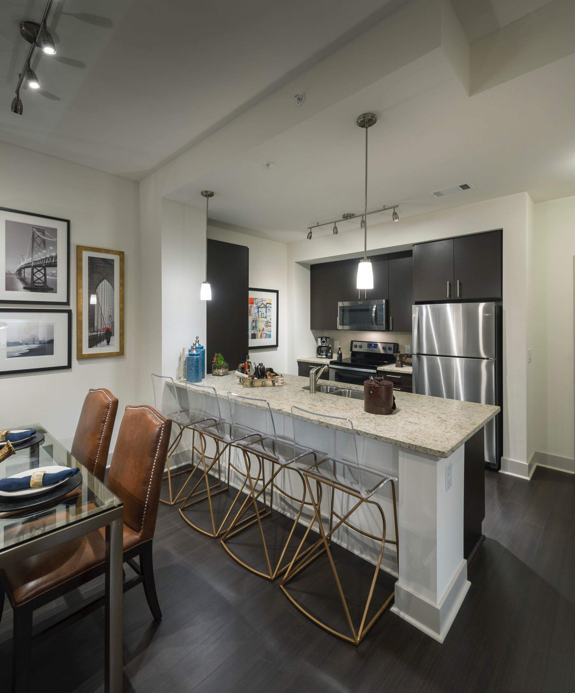 Designer custom cabinetry & spacious kitchen islands