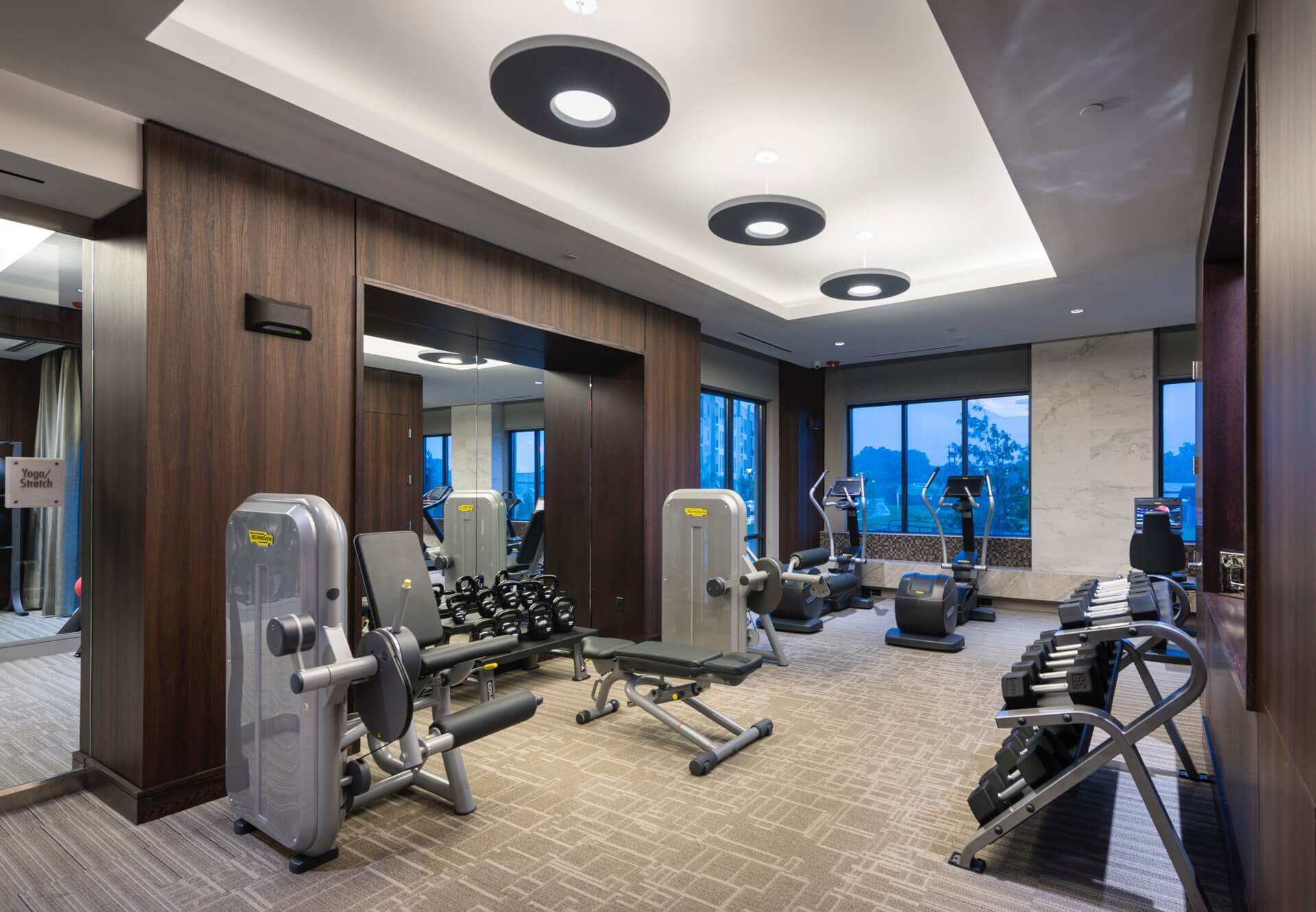 Our fully outfitted fitness center